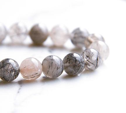 Tourmilated Quartz Stretch Bracelet