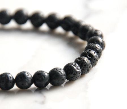 Lava Stone Stretch Bracelet