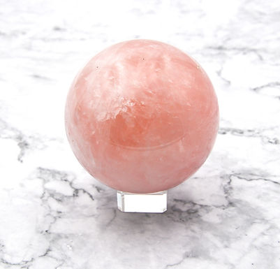 Rose Quartz Sphere with faint star - Large