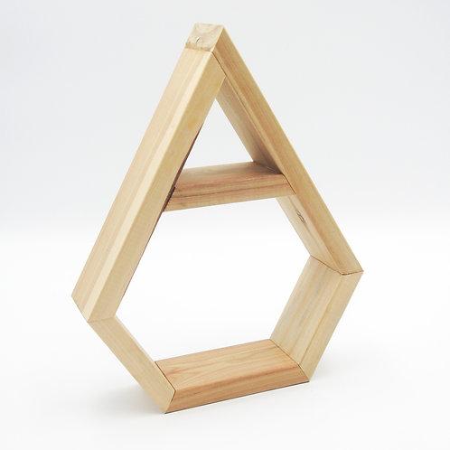 Timber crystal display shelf