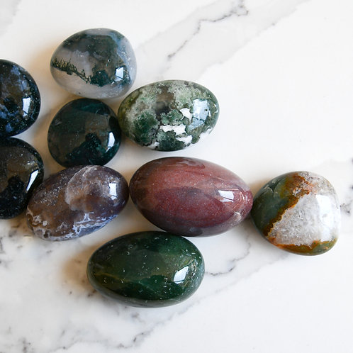 Moss Agate Tumble (Large)