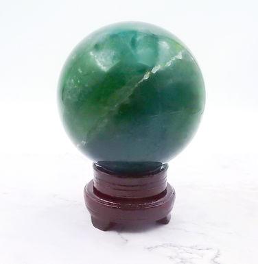 Green fluorite sphere - XL