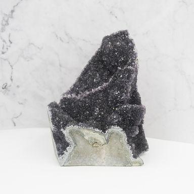 Black Amethyst Cut base cluster