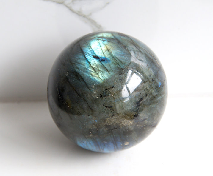 Labradorite Sphere (Blue Flash)