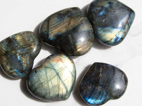 Labradorite Hearts - SML