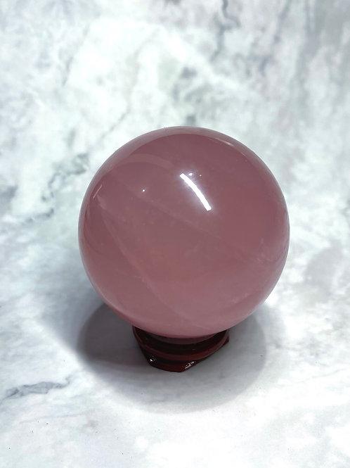 Star rose quartz sphere
