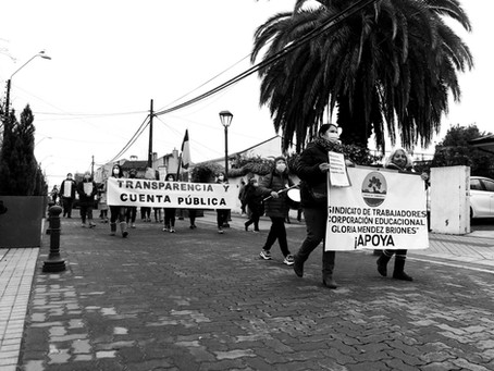 Continuan en Huelga, Sindicato Trabajadores Colegio Gloria Mendez Briones