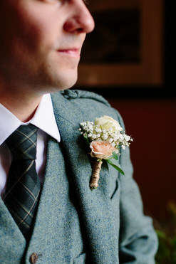 Groom Buttonhole - Country Tweed Wedding