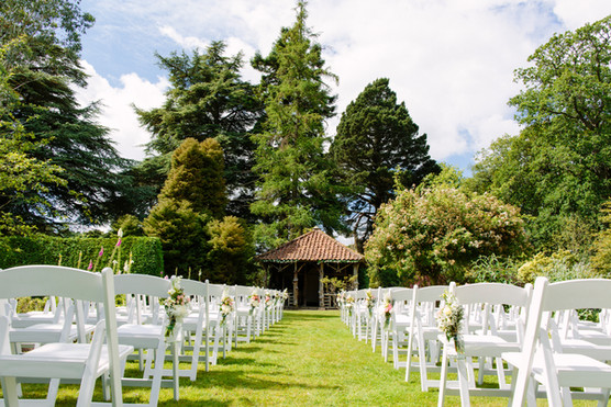 Scottish Country Wedding - Outdoor Ceremony Flowers - Errol Park