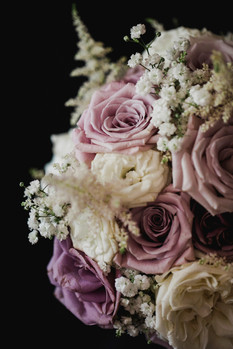 Country Wedding Flowers - Dusky Pink Bridal Bouquet - Scottish Borders