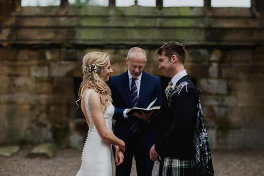 Melrose Abbey Wedding - Country Wedding Flowers - Scottish Borders