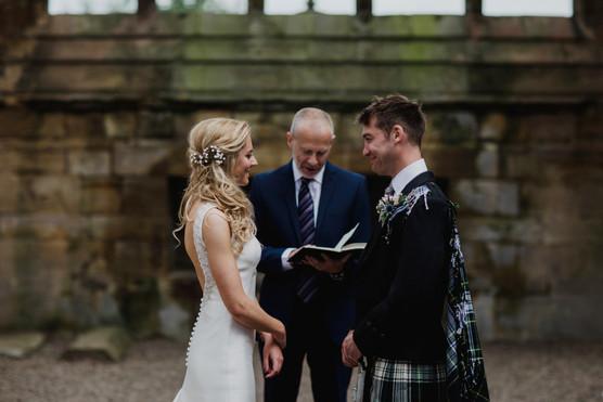 Melrose Abbey Wedding - Country Wedding Flowers - Scottish Borders