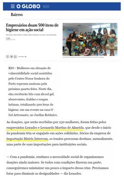 Globo destaca doações