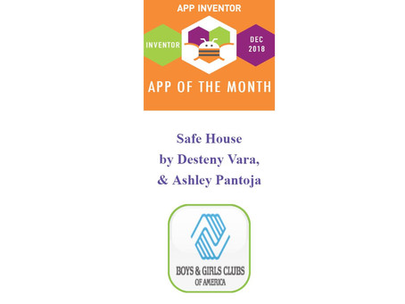First time coders win App Inventor of the Month Award