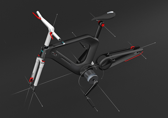 Bike Design Render CGI Surface Design