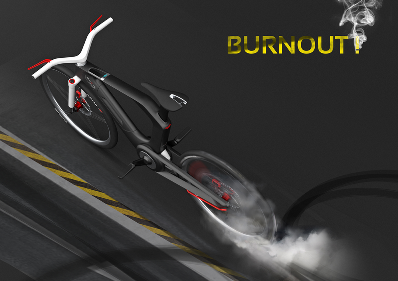 CGI Render E-Bike Emobility Design