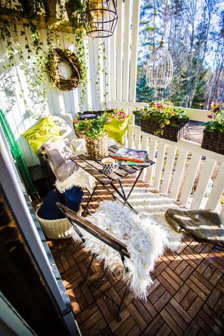 En morgon på balkongen