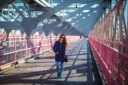 2,5 mil promenad och mexikansk i Brooklyn