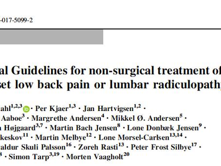 Diretriz para tratamento dor lombar aguda III