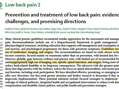 Dor lombar II - Artigos do Lancet