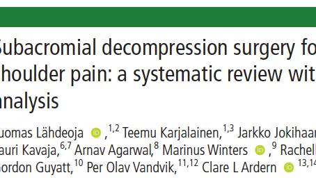 Descompressão Cirúrgica Subacromial para dor no ombro
