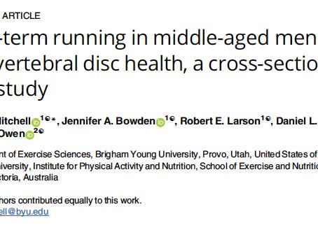 Efeito da corrida na saúde dos discos intervertebrais em homens adultos