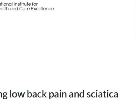 Guideline para o tratamento de dor lombar e ciática