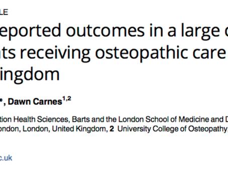 Resultados reportados por pacientes que receberam tratamento Osteopático no Reino Unido
