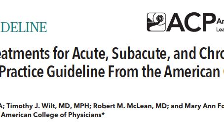 Guideline para tratamento da dor lombar II
