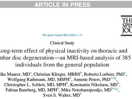 Efeito a longo prazo de inatividade física na degeneração dos discos intervertebrais.