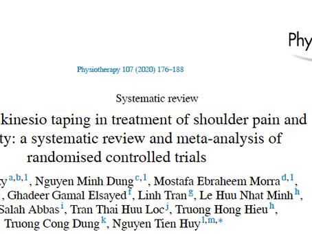 Efeito do kinesio tape no tratamento de dor e incapacidade no ombro.
