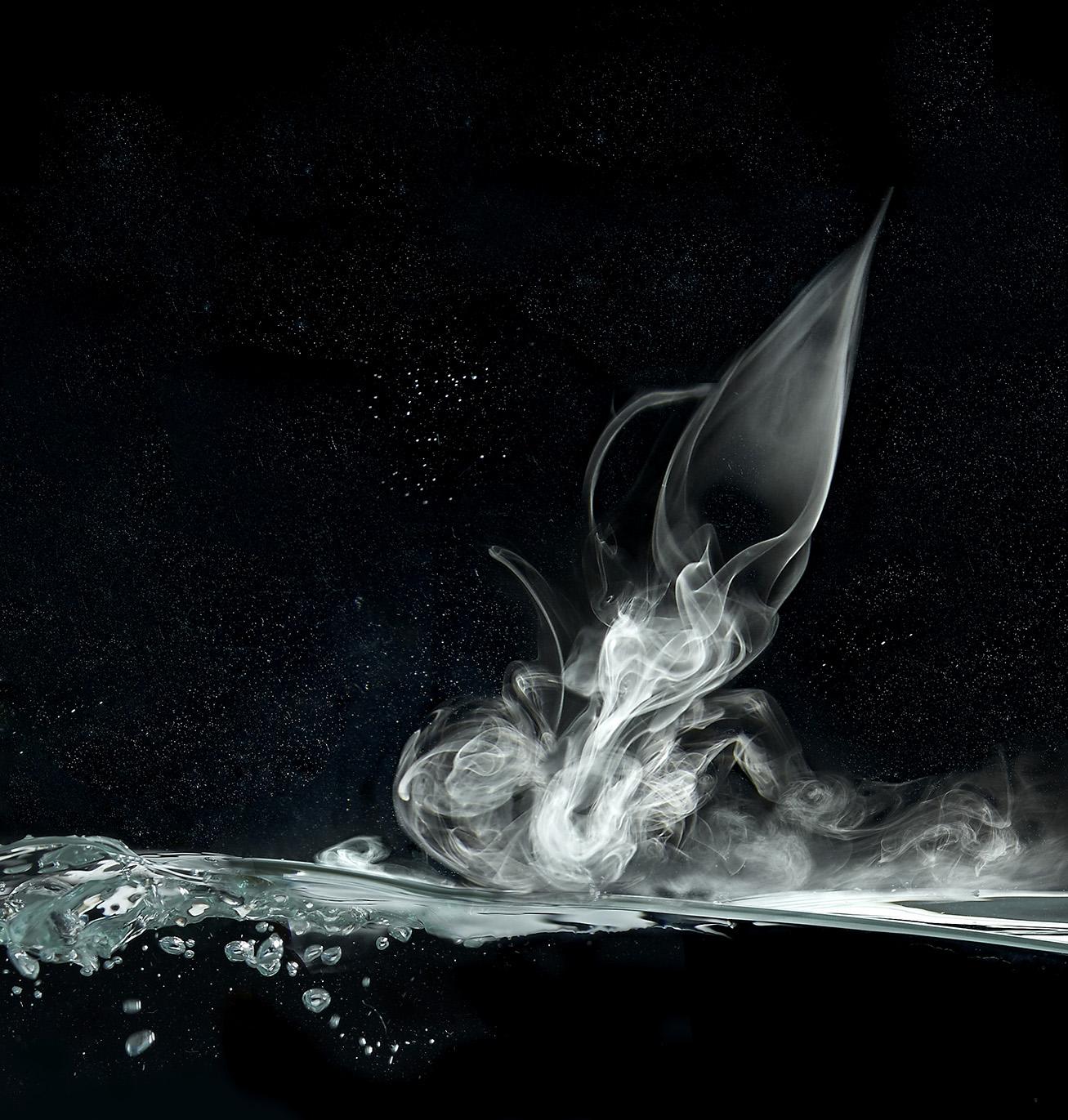 Fumée sur l'eau