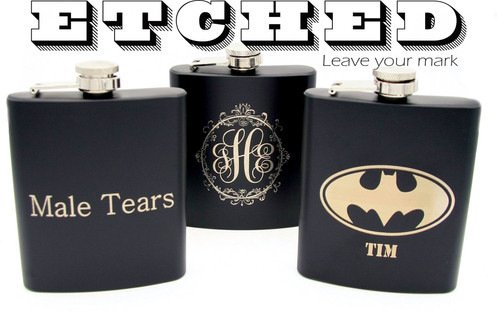 Laser Engraved Flask Personalized Flask Customized Flask