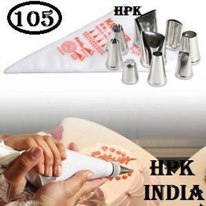 105 pcs hpk disposable icing bag with Nozzles