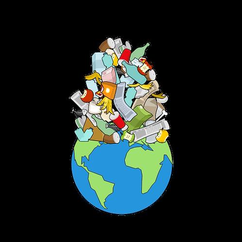 Mondo ricoperto dai rifiuti