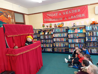 Puppet Show in Lanesborough Library.
