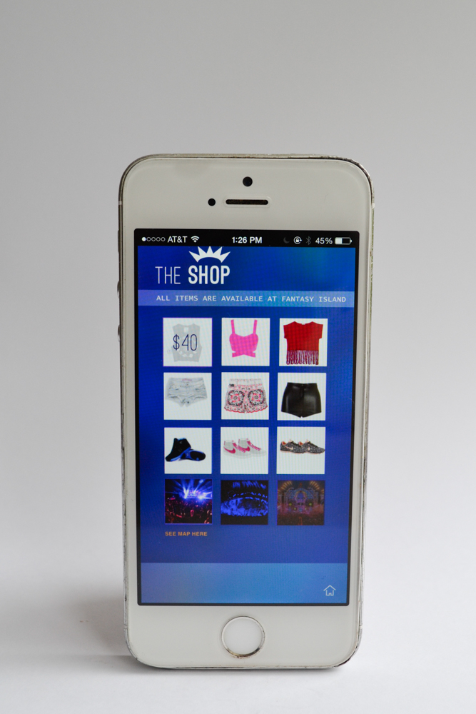Tomorrowland Shopping Screen