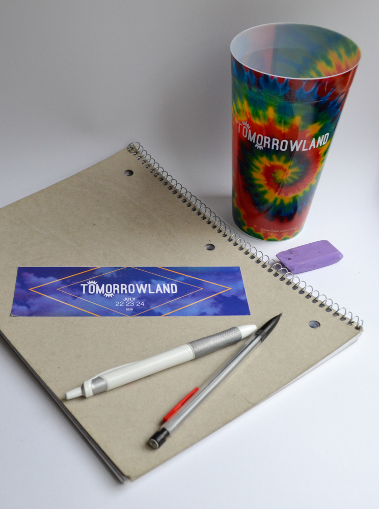 Tomorrowland Sticker and Cup