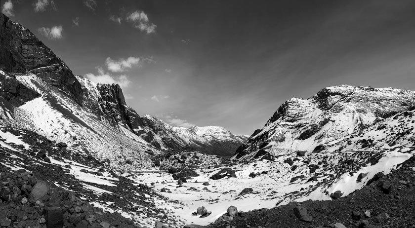 Cordillera de los Andes B&N