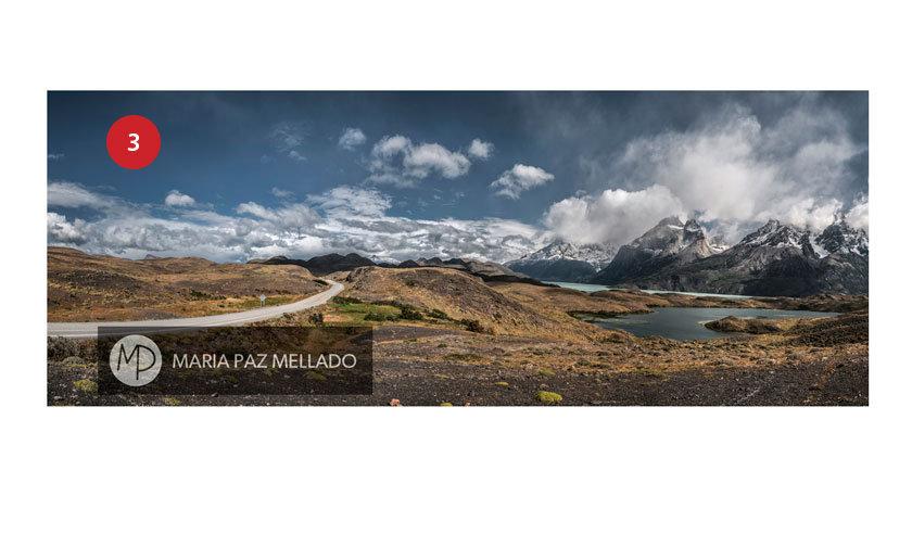 Postal Torres del Paine - Camino a Salto Grande