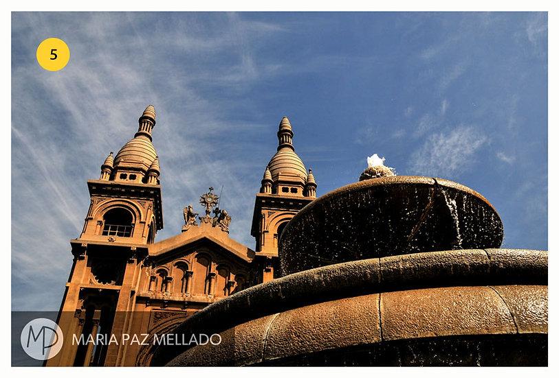 Postal Santiago Amarillo - Los Sacramentinos