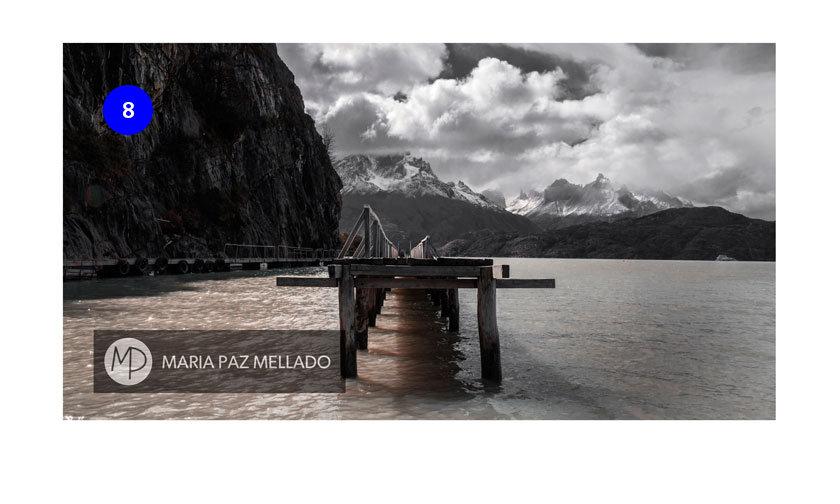 Postal Chile - Lago Grey
