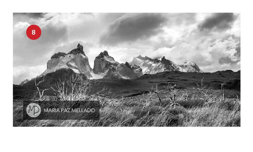 Postal Torres del Paine - Macizos los Cuernos del Paine