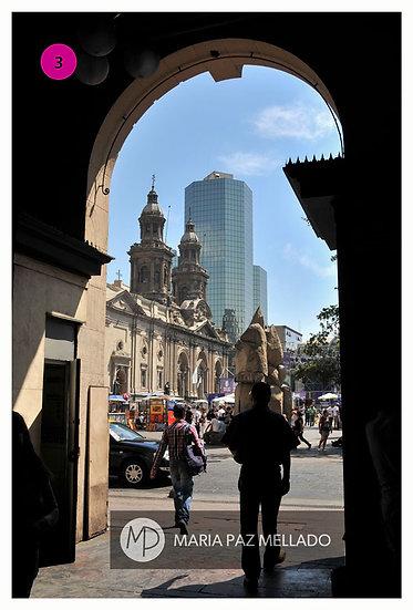 Postal Santiago Magenta - Desde El Portal