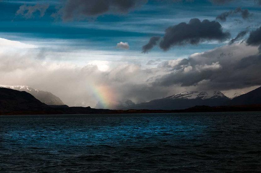 Lago azul del Cielo