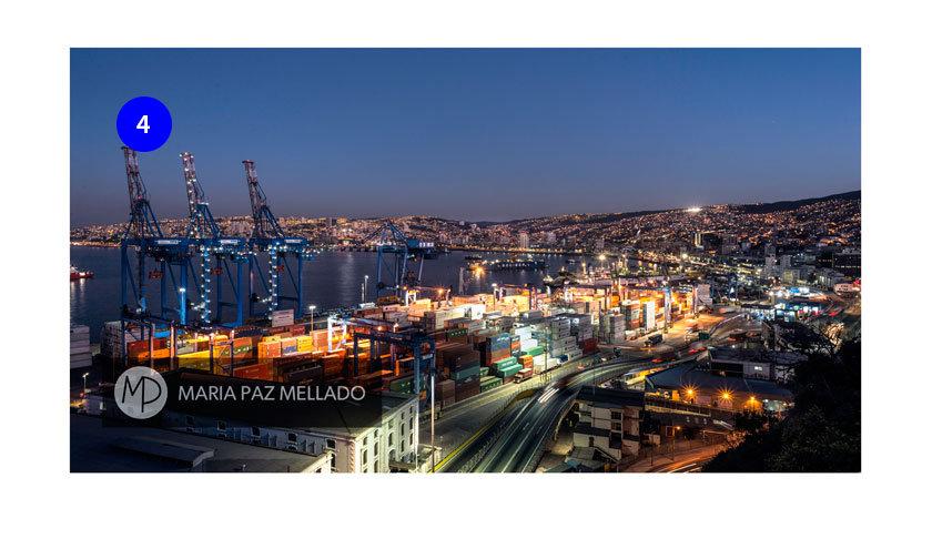 Postal Chile - Luces en el Puerto, Valparaíso