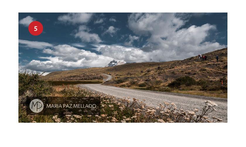 Postal Torres del Paine - Camino al Parque Torres del Paine