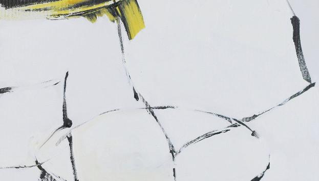 Barrow I, acrylic 18Wx24H, Abstract Oval