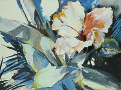 Hibiscus Blue,18H x 24W x 1.5D, $700