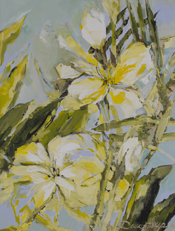 White, Yellow Blue Floral